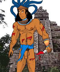 Aztec Warrior 7-2014 by dynakor