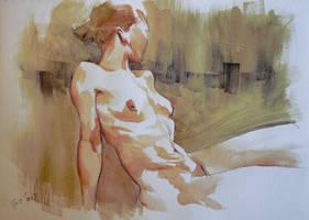 Nude watercolor
