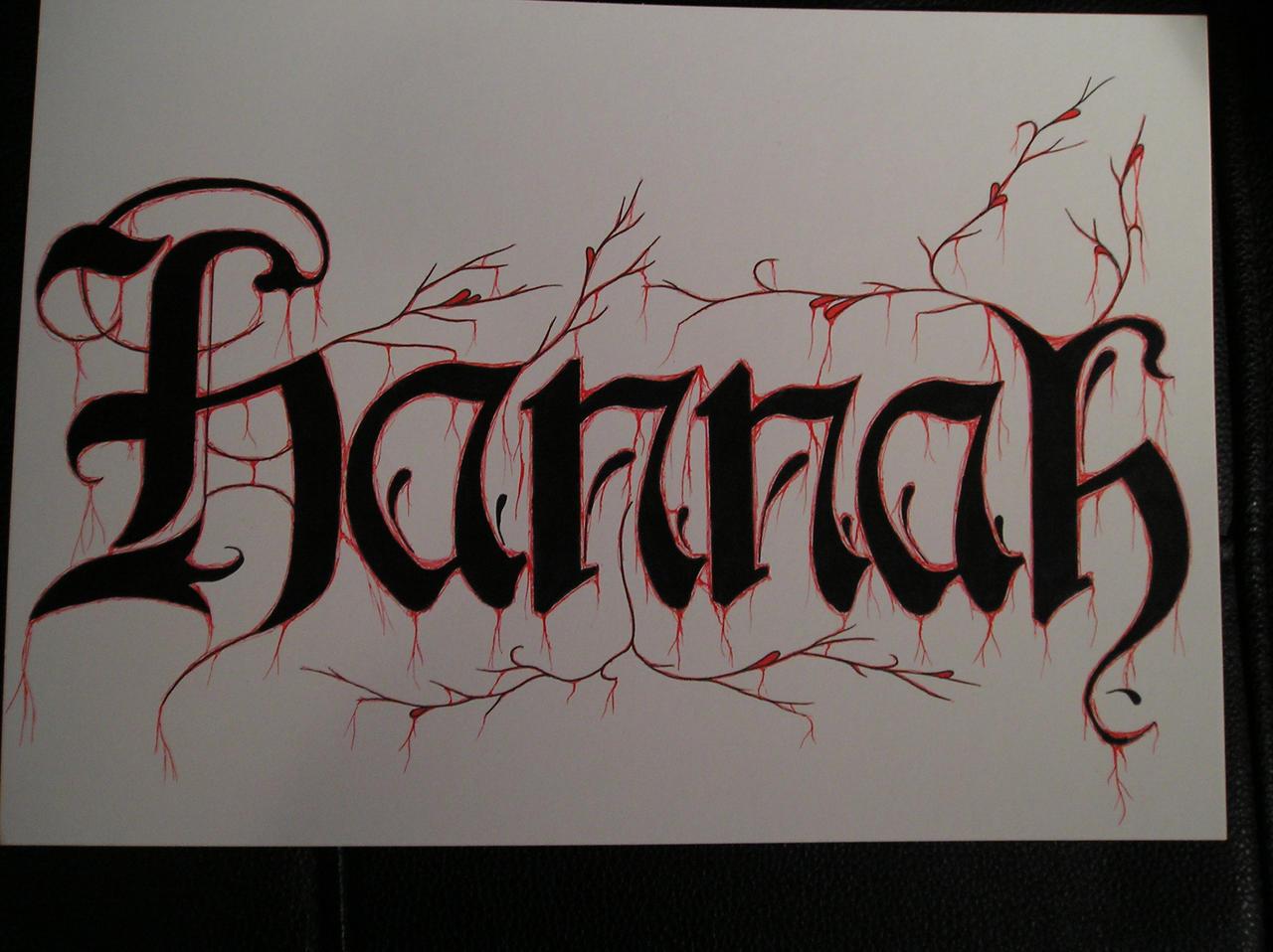 Name Drawings: Hannah Drawing By Virusoverload On DeviantArt