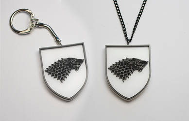 Game of Thrones Stark Keychain and a Pendant