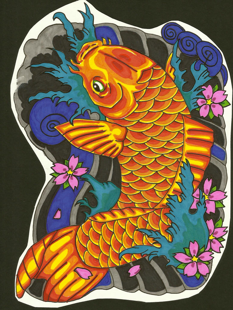Japanese koi fish by cfo62 on deviantart for Koi fish japanese art