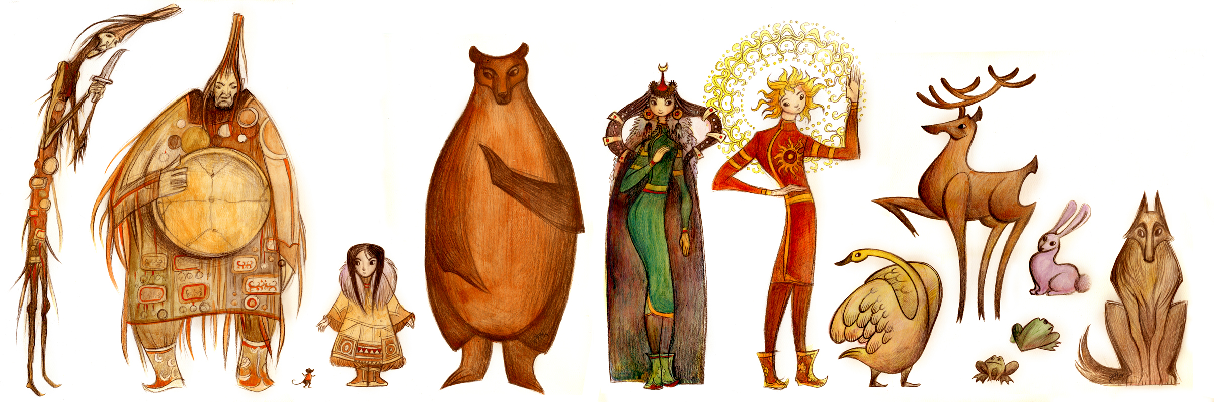 Siberian  tale characters by POISON-FREE