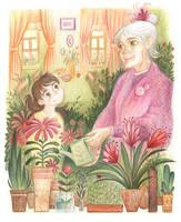 Grandma's flowers by greenpengua