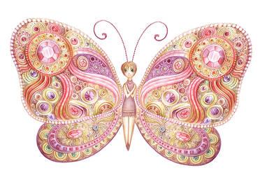 diamond butterfly by greenpengua