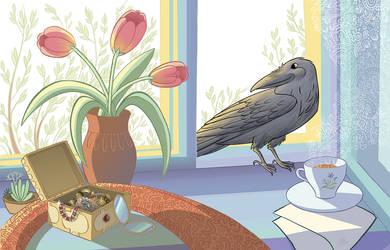 Beauty Crow by greenpengua