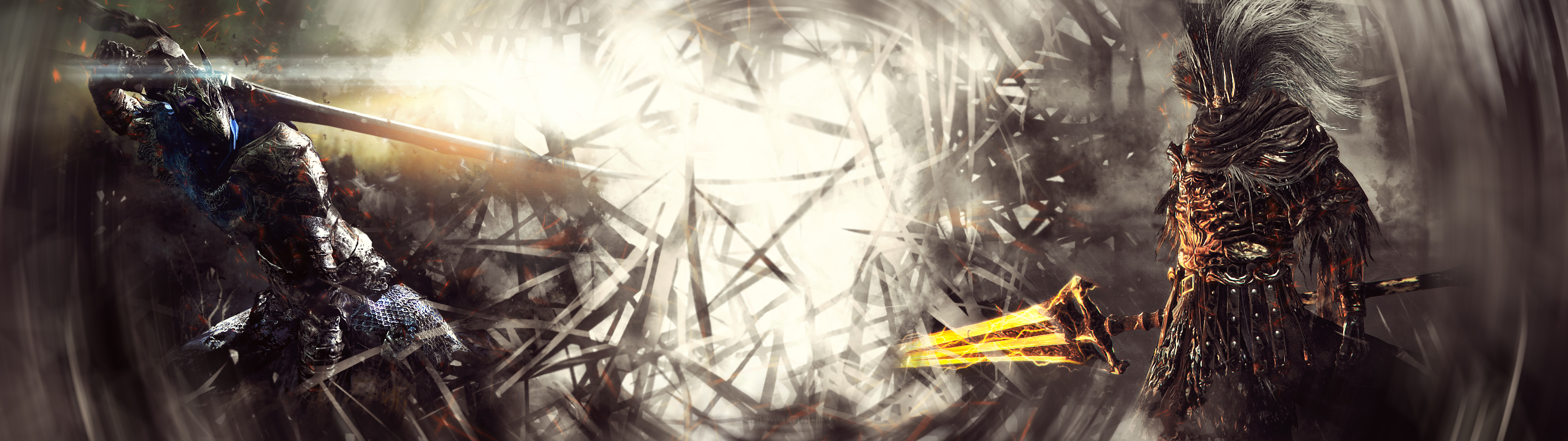 Artorias The Abyss Walker Vs Nameless King By Kampinis On Deviantart