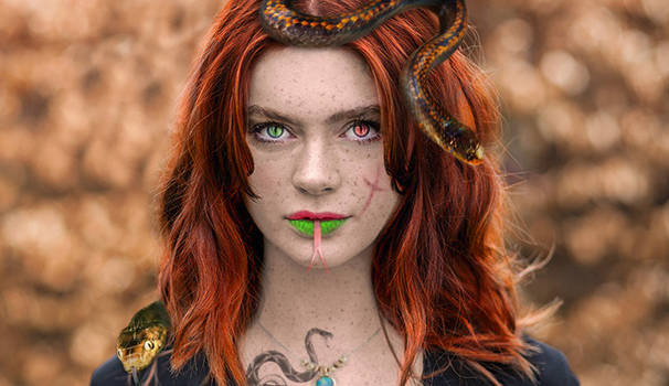 Snake Girl - photomanipulation