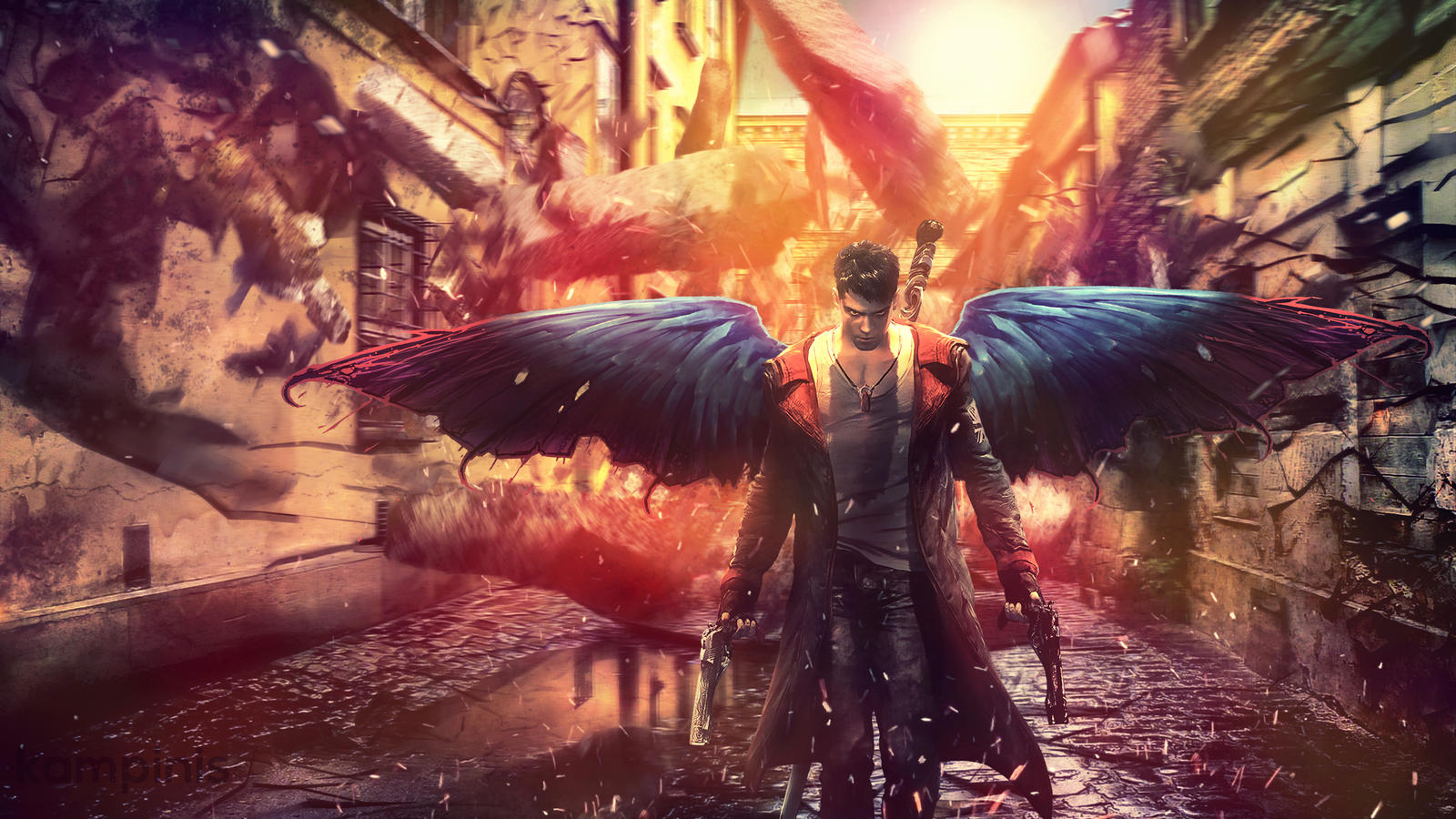 Dmc Devil May Cry Dante Wings Wallpaper By Kampinis On Deviantart