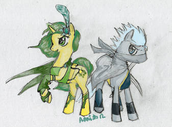 Rydia and Edge ponified