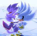Silver and Blaze underwater
