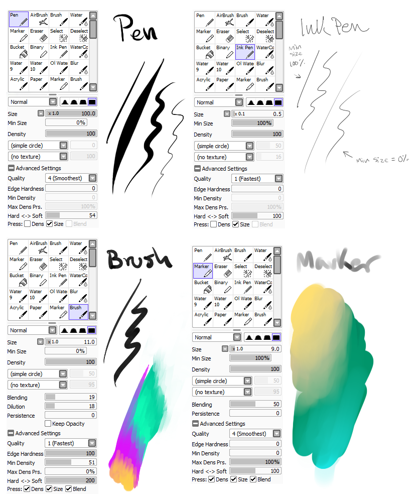 my brush settings
