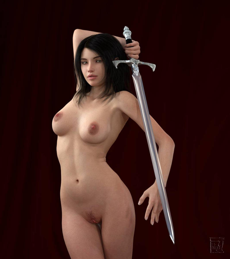 Girl with a Sword 1 by Ehliasys