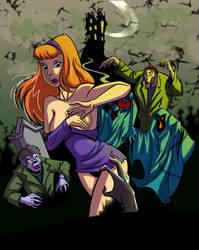 Daphne vs monsters  by Dragonsmasher