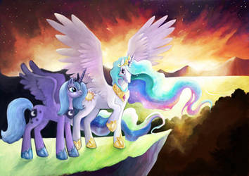 Night and day by Silverene
