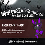 Howl 2018: Hotel Room Block Open