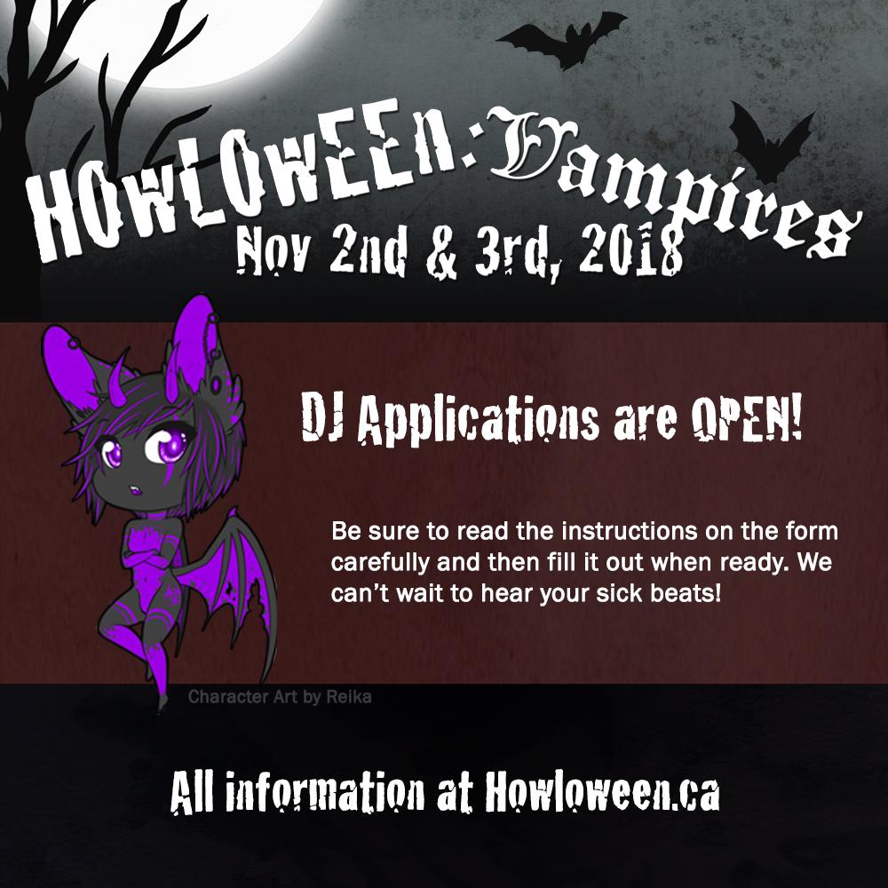Howl 2018 DJ Applications Open! by HowloweenCanada