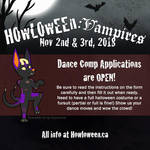 Dance Comp Applications OPEN