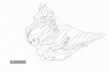 Falling sketch by GLDraws