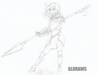 Conceptual Warrior sketch by GLDraws