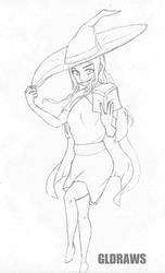 Conceptual Mage sketch by GLDraws