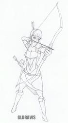 Conceptual Archer sketch by GLDraws