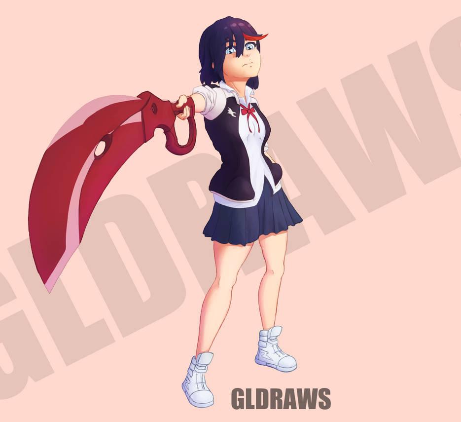 Matoi Ryuko - Kill la Kill by GLDraws