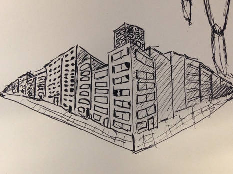quick sketch of some buildings