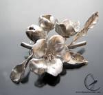 Apple blossom brooch