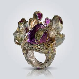 Amethyst in Iris Flowers