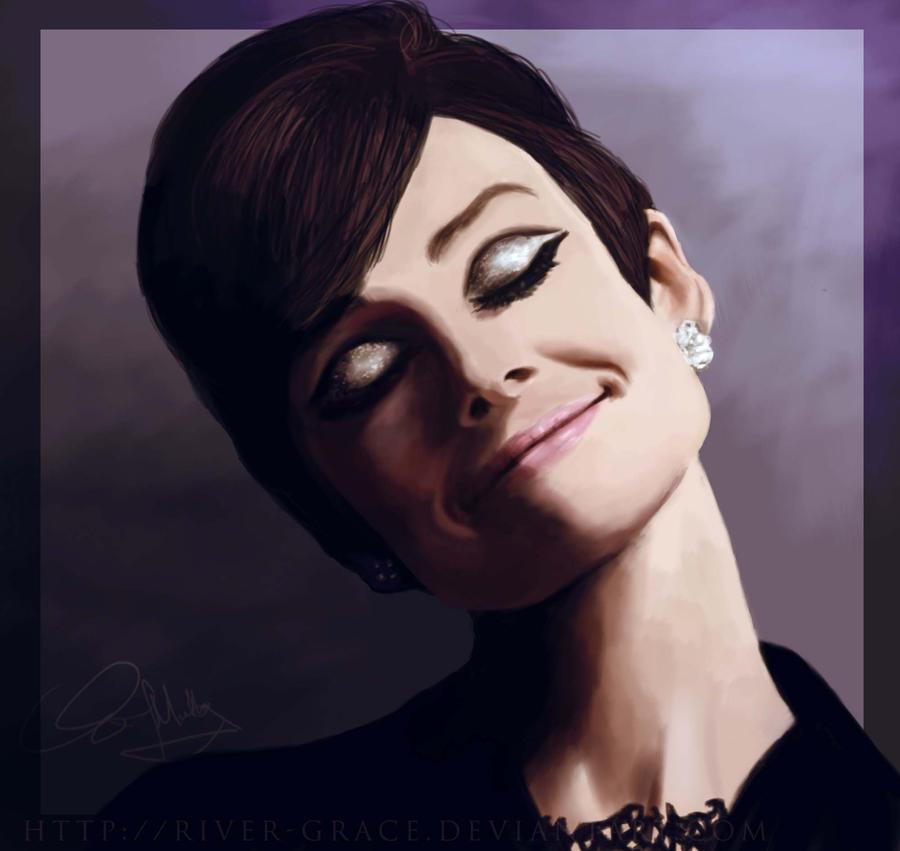 Audrey Hepburn by elizabethmuller