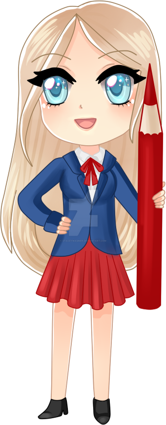Blonde chibi by StaceyWagner