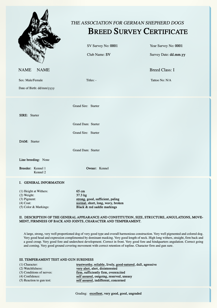 certificate survey breed deviantart