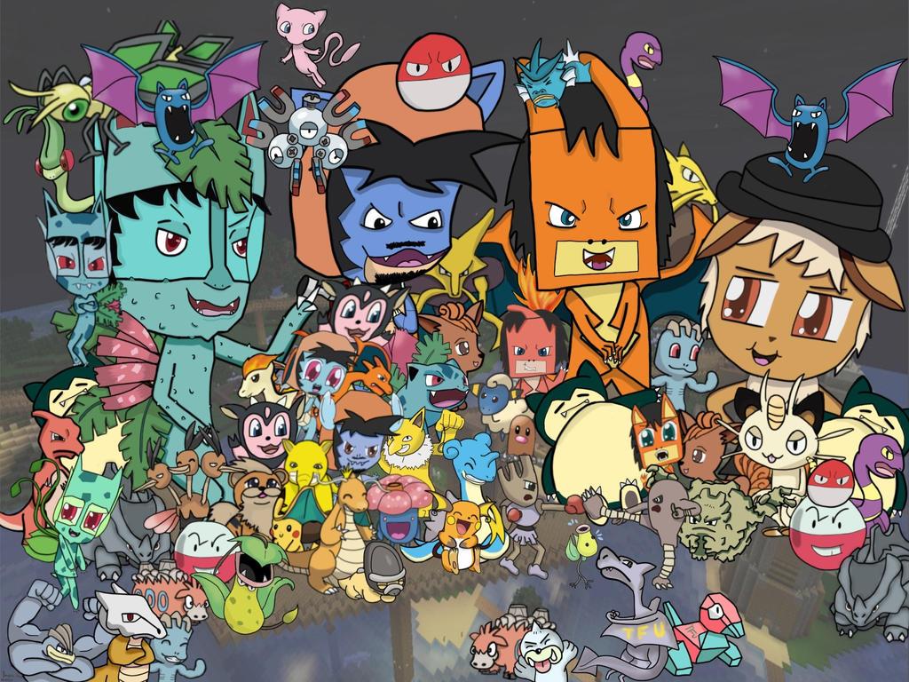 Minecraft daily pokemon editon by junjou deathnote on - Pokemon logo minecraft ...