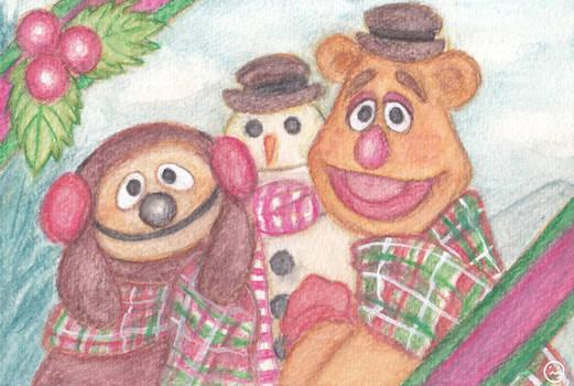 Happy Holidays FozzieandRowlf
