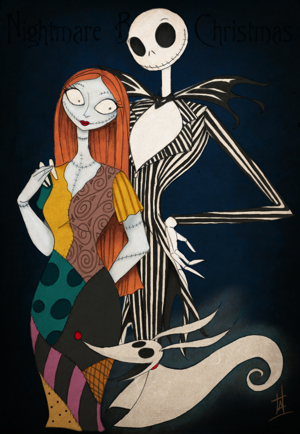 Jack, Sally and Zero by Thallys