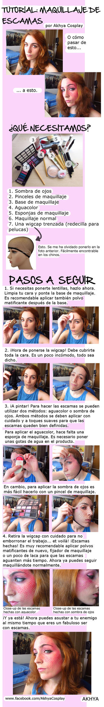 Escamas - Makeup tutorial by Akhya