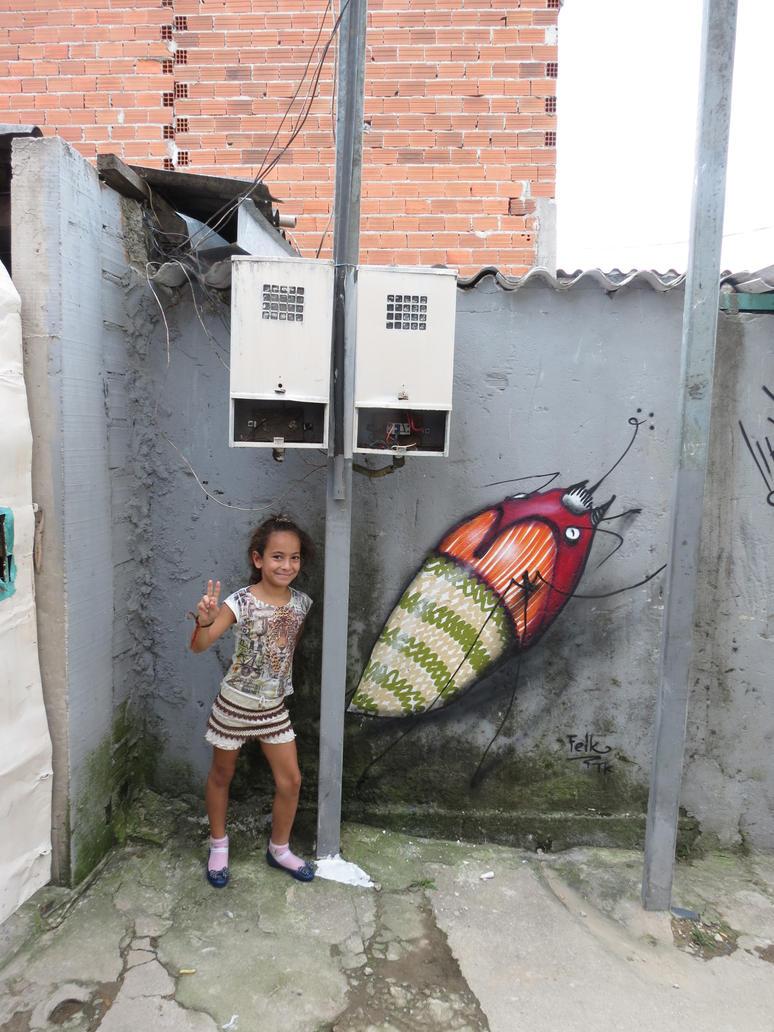 a menina e o inseto by feik-graffiti