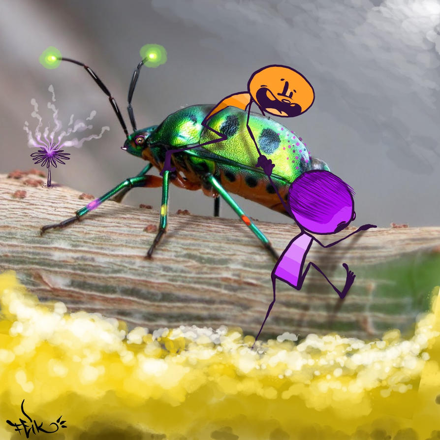 pirulitos e o inseto by feik-graffiti