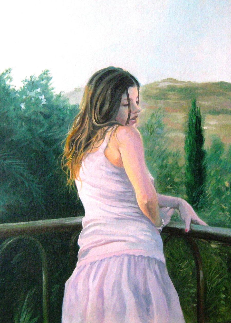 Fanciulla al balcone by vernice61