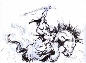 Nov 30, 2017 - Kubla Khan Frazetta Sketch