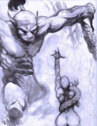 Dec 5, 2017 -  Frazetta Swamp Demon Pencil