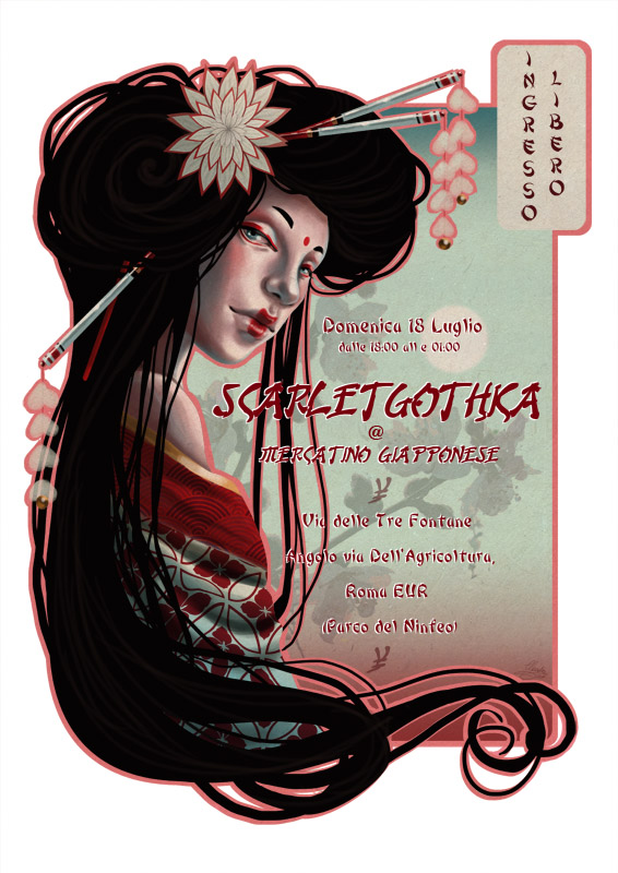 geisha flyer by claudia sg on deviantart. Black Bedroom Furniture Sets. Home Design Ideas