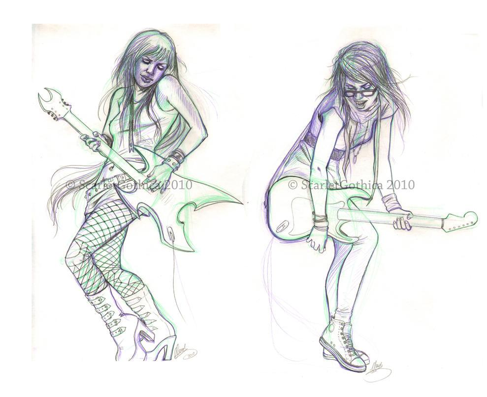 Metal and Indie - sketch - by Claudia-SG
