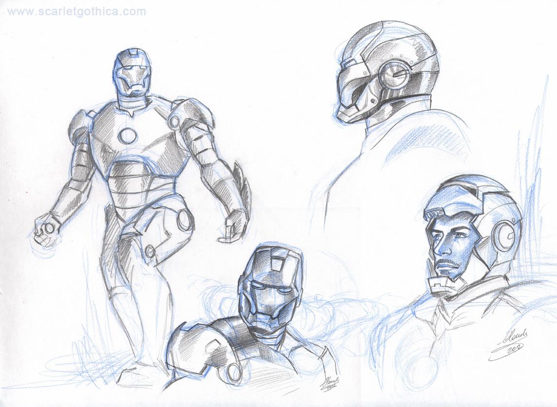 Iron Man sketch 01 by Claudia-SG on DeviantArt