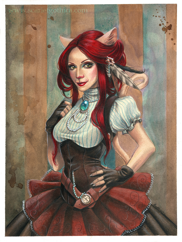 Cat Lady: Steampunk by Claudia-SG