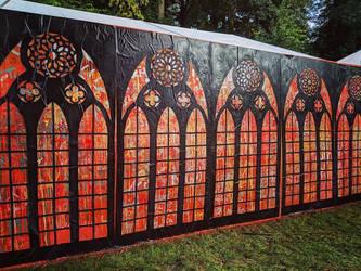 Greenbelt Festival Mural by Teakster
