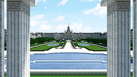 Palais Imperial de Castaire - Panoramic Rear View