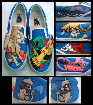 Their Favorite Pokemon Shoe Commission by Brokenfeather-san