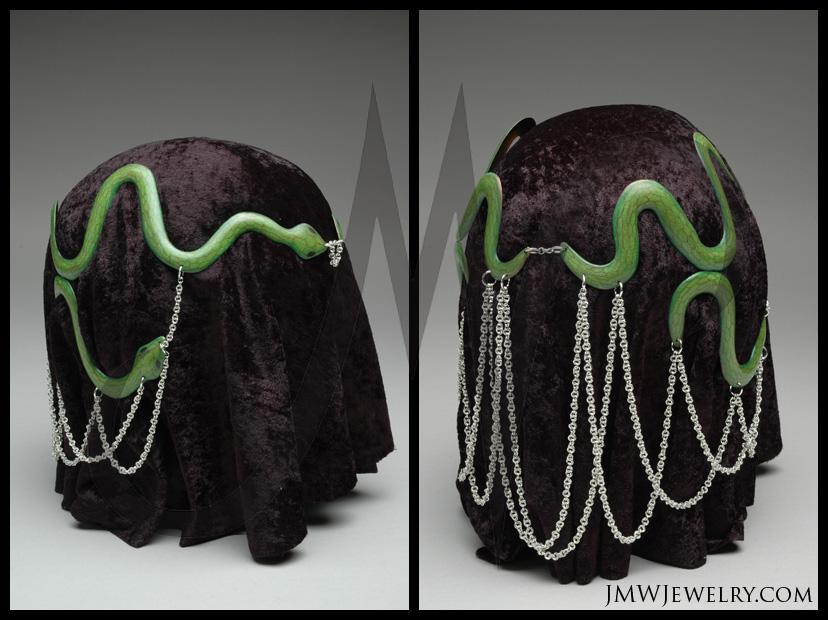 how to make a snake headdress