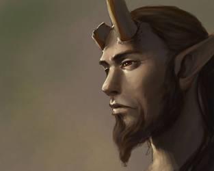 Broken Horn Satyr by SulaMoon